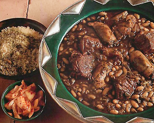Couscous sauce noire Bkela