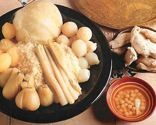 Couscous blanc au chou
