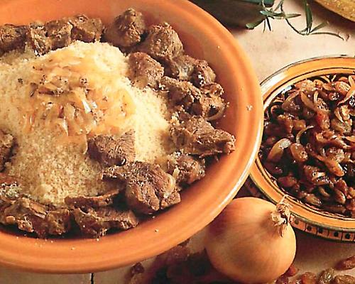Couscous au boeuf et raisins secs