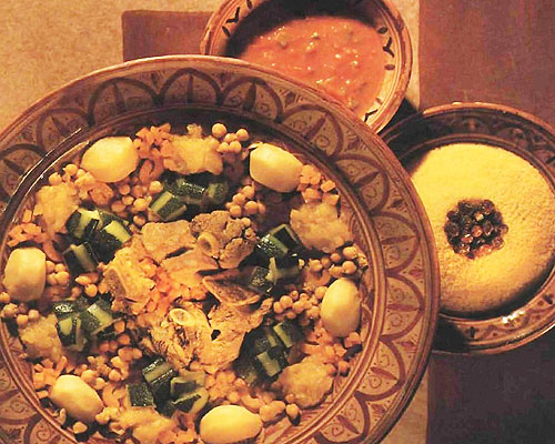 Couscous au poulet et petits navets