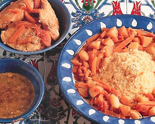Couscous au poulet en sauce thaï
