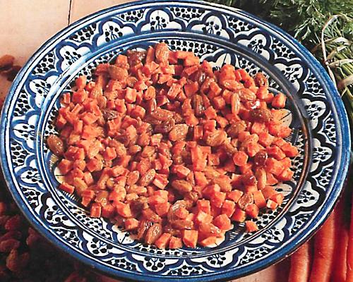 Salade de carottes aux raisins secs