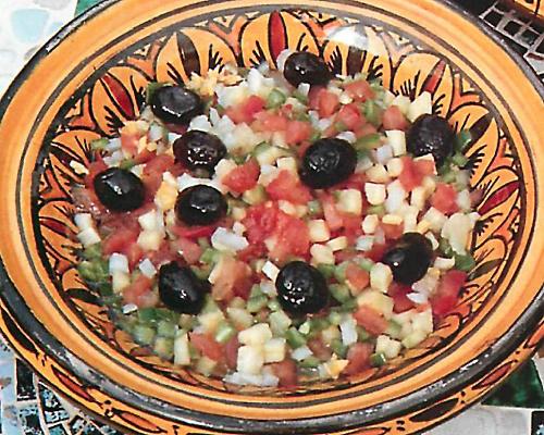 Salade printanière méditerranéenne