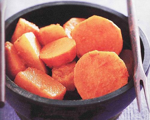 Tajine de navets et de patates douces